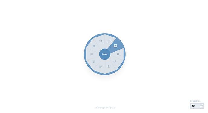 Radial / Circular Menu Concept