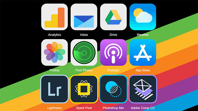Pure CSS iOS Icons