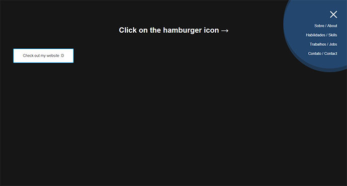 Hamburger icon with Morphing Menu