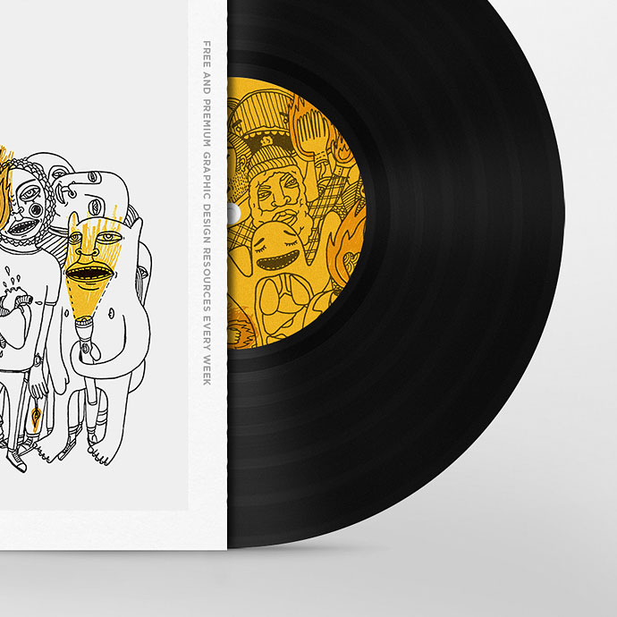 Vinyl Disc Cover Art Mock-up