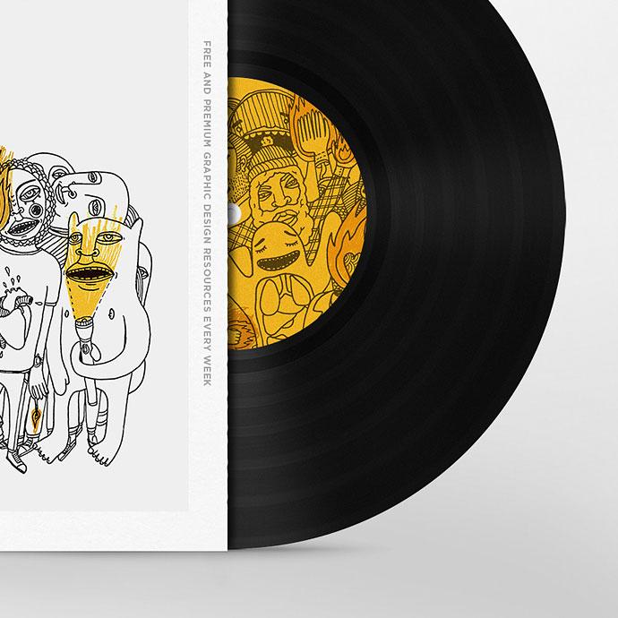 Vinyl Disc Cover Art Mock-up