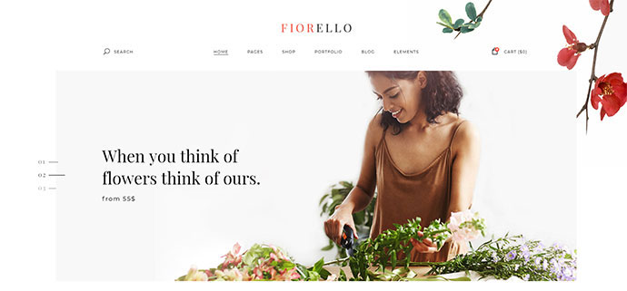 Fiorello - A Flower Shop and Florist WooCommerce Theme