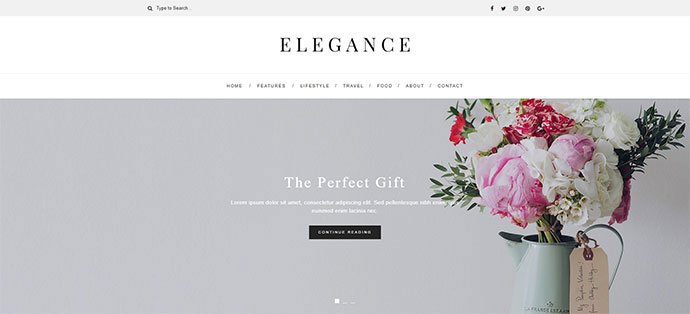 Elegance- WordPress Blog Theme