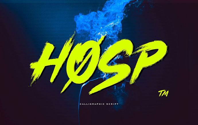 Hosp - Free Font