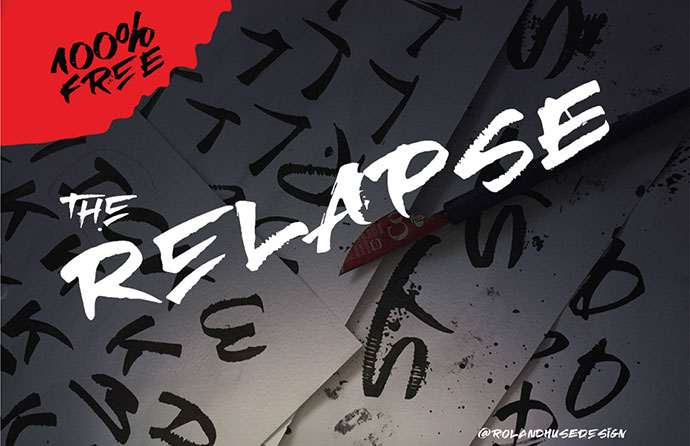 RELAPSE - FREE HAND DRAWN FONT