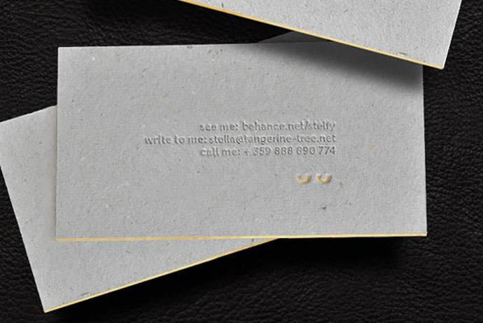Letterpress business card / self project
