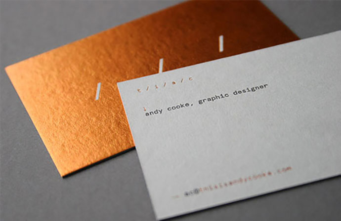 Brilliant Hot Foil Stamped And Letterpress Business Card For A Graphic Designer