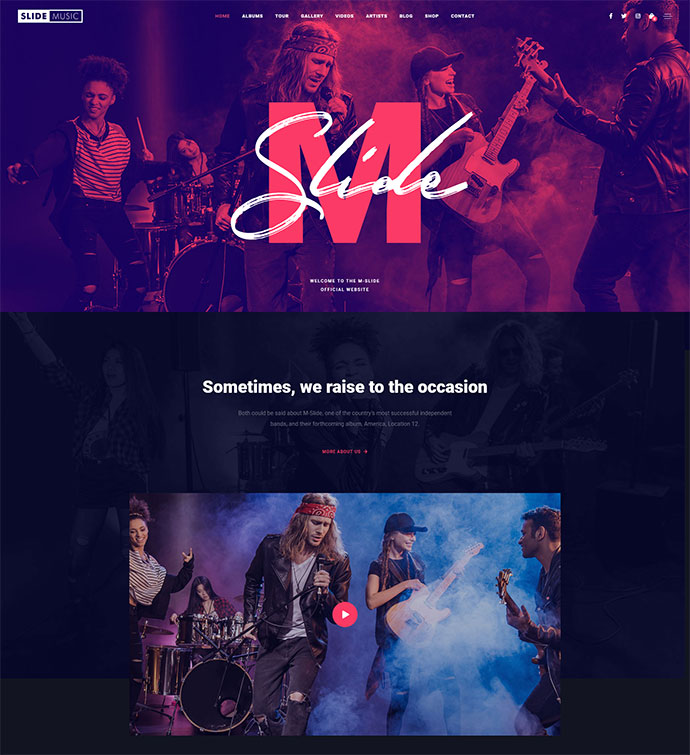 Slide - Music WordPress Theme