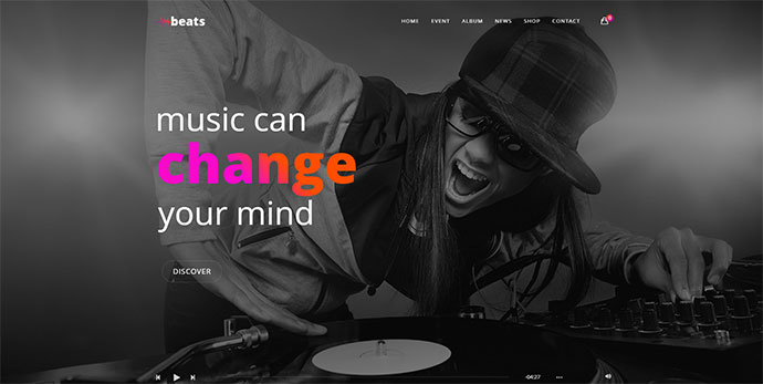 Beats - Responsive Music & Event WordPress Theme