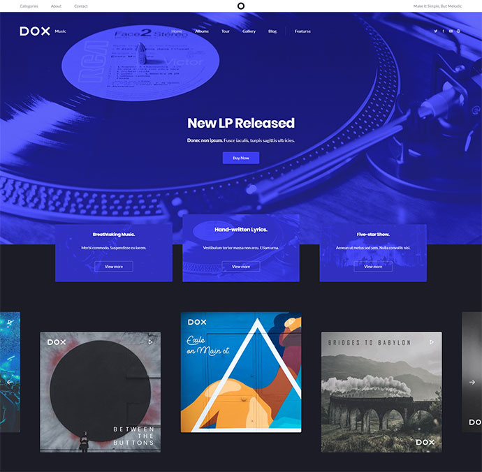 Dox — Creative WordPress Theme