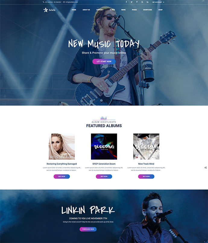 Music WordPress | Solala Music