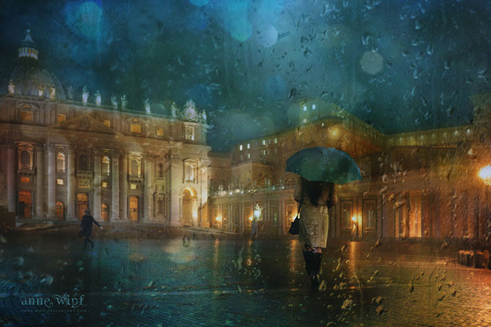 Rainy Night in Rome