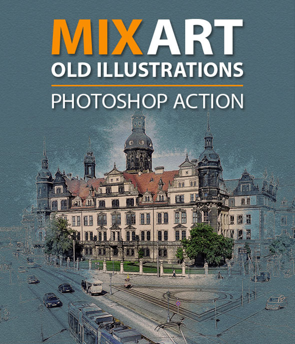 MixArt Old Illustrations Photoshop Action
