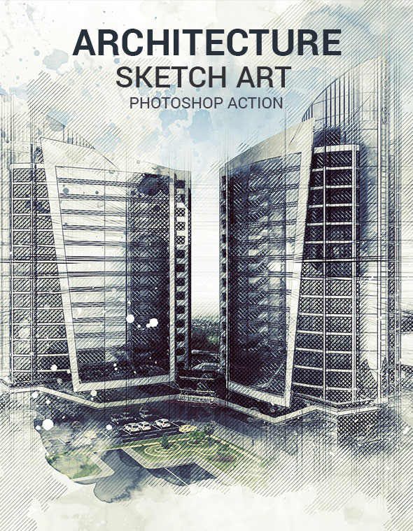 Architecture Sketch Art Photoshop Action