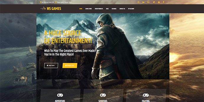 WSGames - Video CD Store WordPress