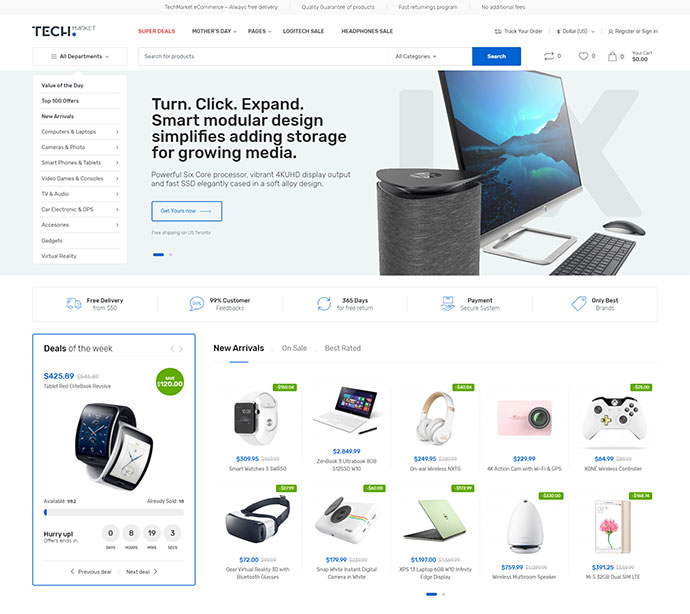 Techmarket - Multi-demo & Electronics Store WooCommerce Theme