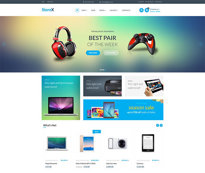 StoreX - WordPress WooCommerce Electronics Theme