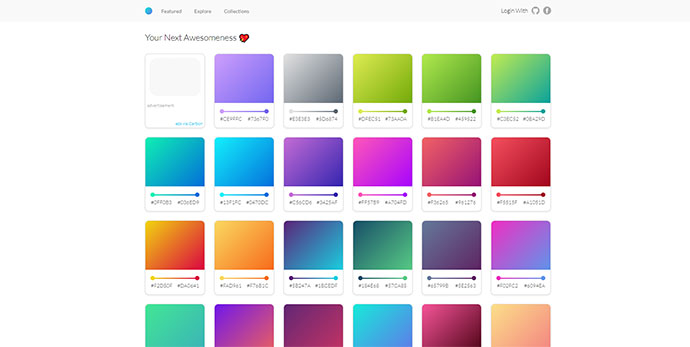 Gradients Cards