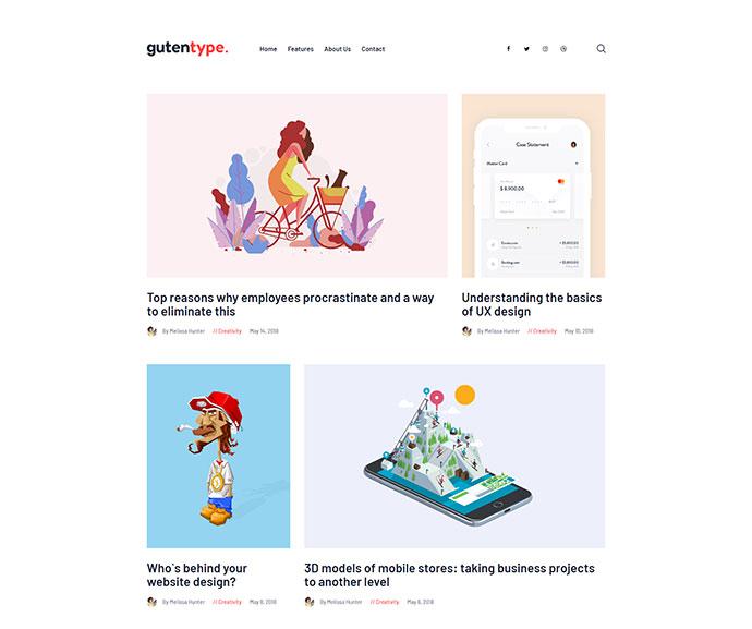 Gutentype | A Trendy Gutenberg WordPress Theme for Modern Blog