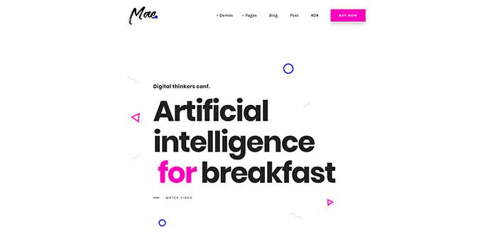 Mae - A Gutenberg & WordPress Theme