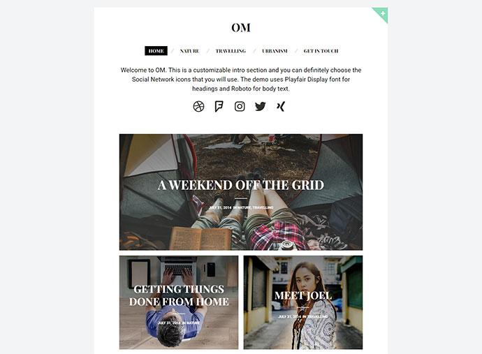 OM - A stylish blogging theme for WordPress