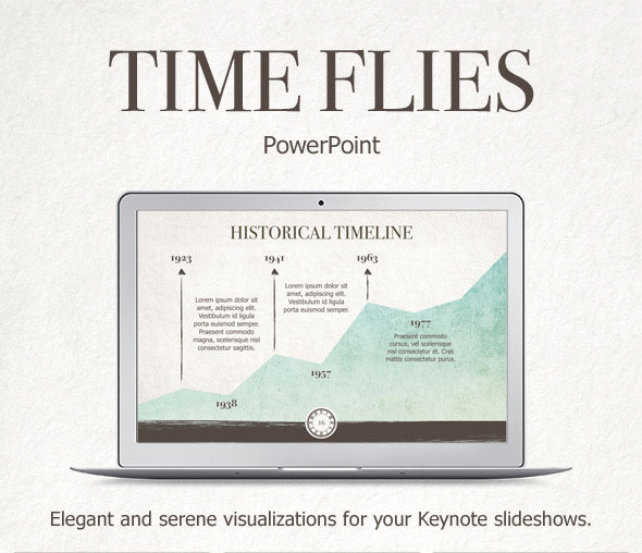 Time Flies PowerPoint Template