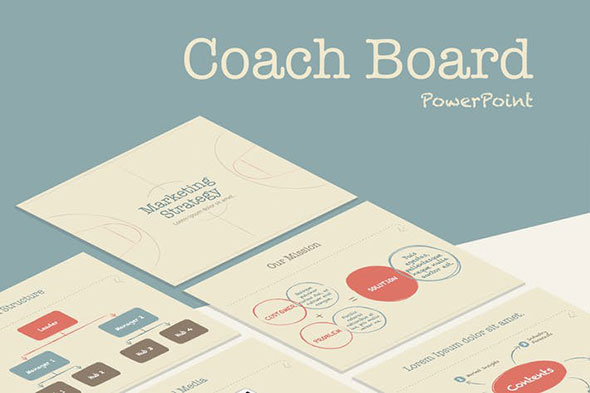 Coach Board PowerPoint Template