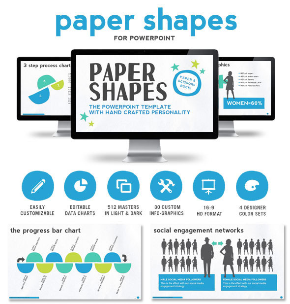 Paper Shapes Powerpoint Presentation Templates