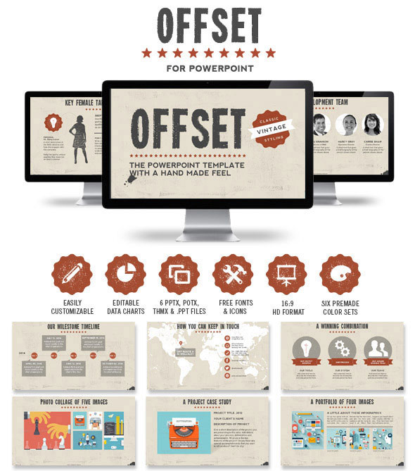 Offset Powerpoint Presentation Template
