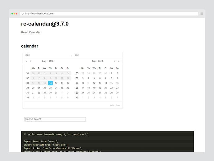 rc-calendar