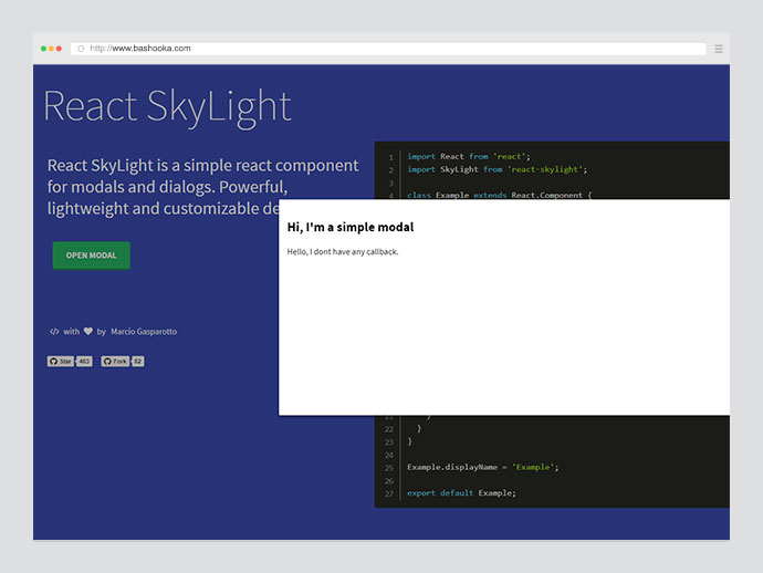 React SkyLight