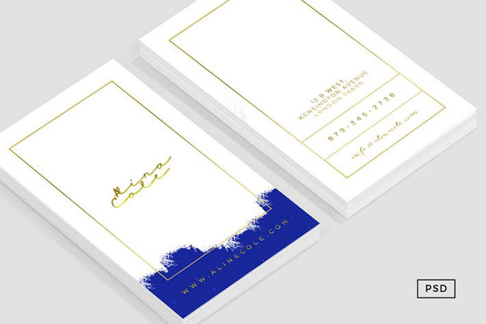 Elegant Painted Business Card