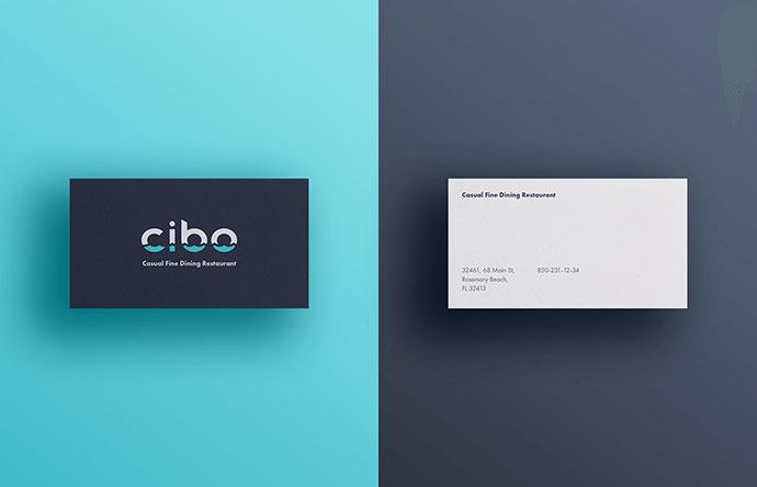 Cibo Logo & Branding Casual Fine Dining Restaurant