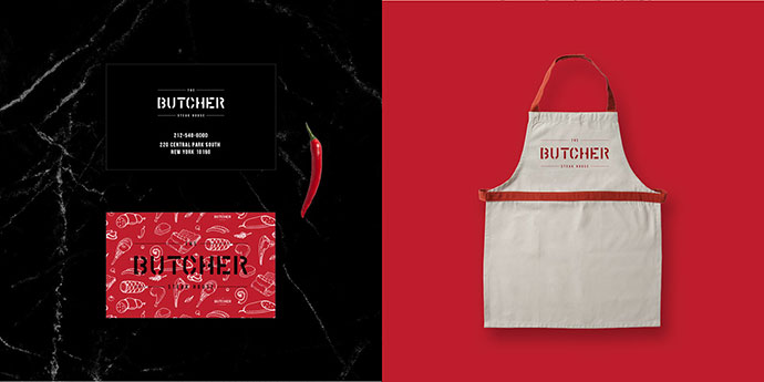 The Butcher Steakhouse Branding