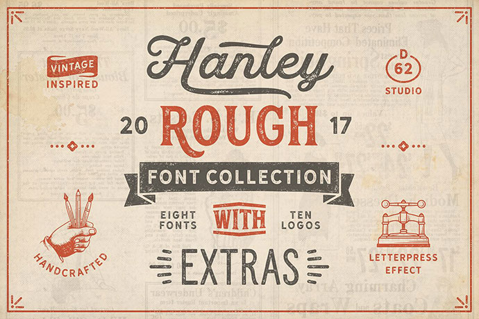 HanleyRough Font Collection
