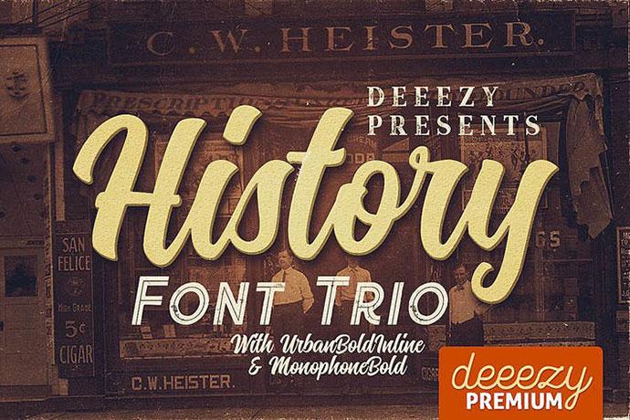 History Font Trio