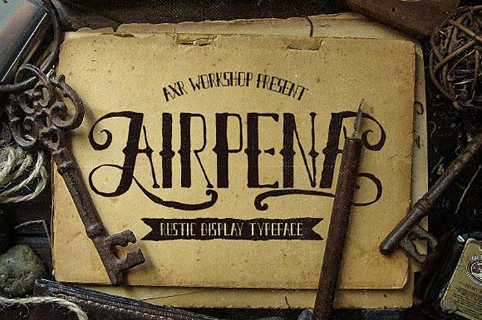 AirpenaRustic Font