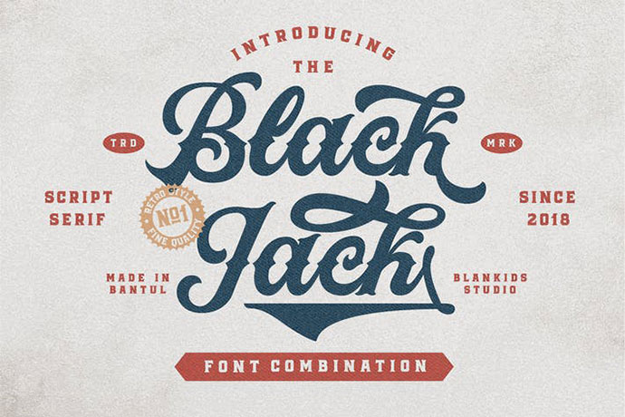 Black Jack Script and Serif