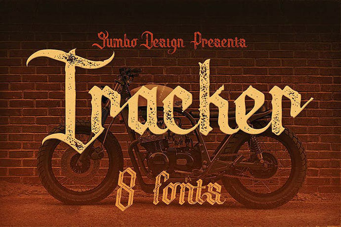 Tracker - Vintage Style Font