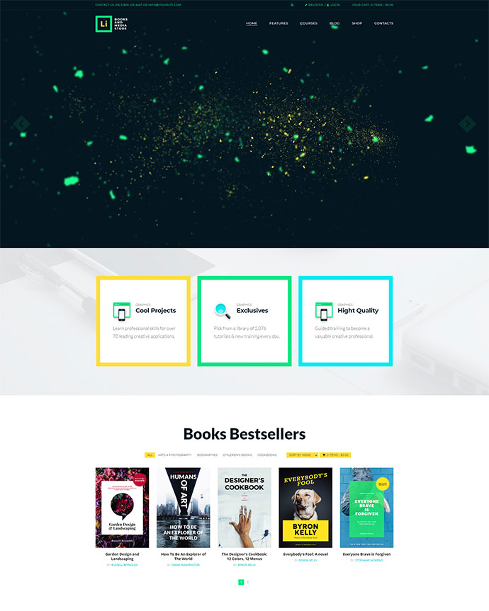 Lorem Ipsum | Books & Media Store WordPress Theme