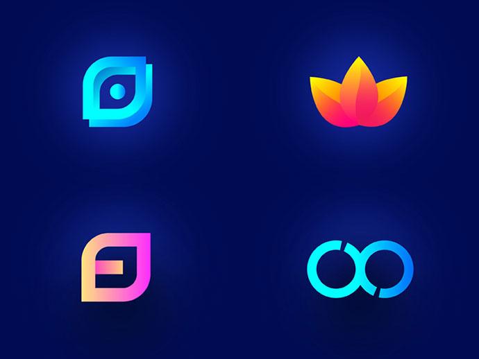 Colorful logofolio design