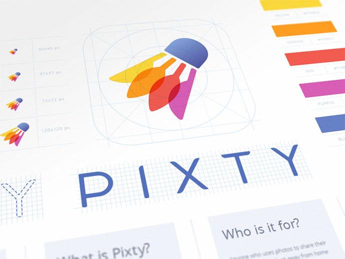 Pixty App Branding
