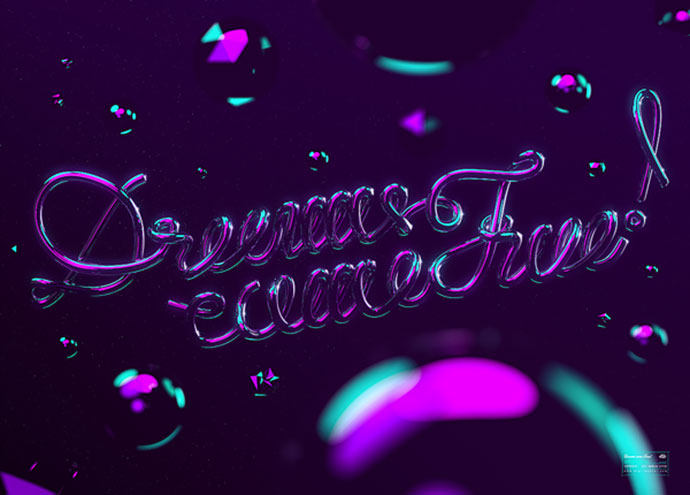 Dreams come true! // Neon Type