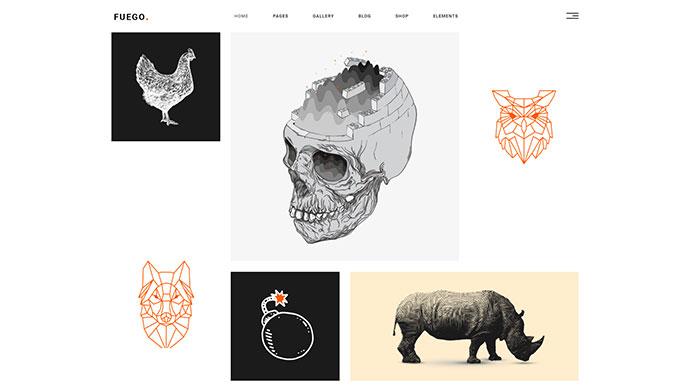 Fuego - A Creative Portfolio Theme for Designers and Agencies