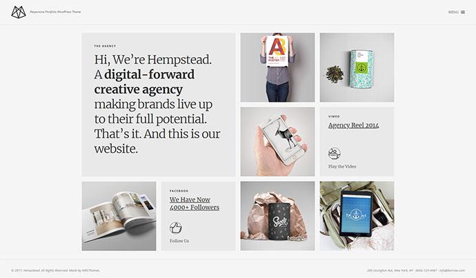 Hempstead – Responsive Portfolio WordPress Theme