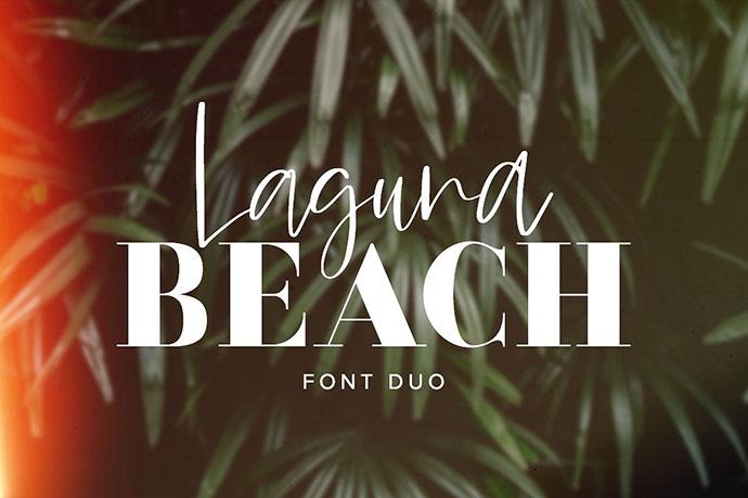 LagunaBeach Font Duo