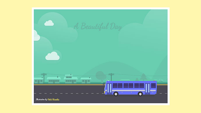 Parallax SVG Bus Animation