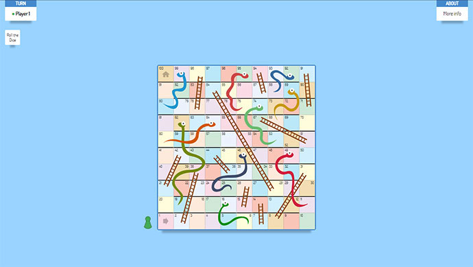 CSS Snake & Ladders: a multiplayer game developed in HTML+CSS with no JS