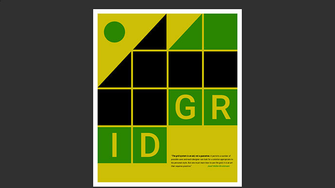 CSS Grid Excercise: Poster