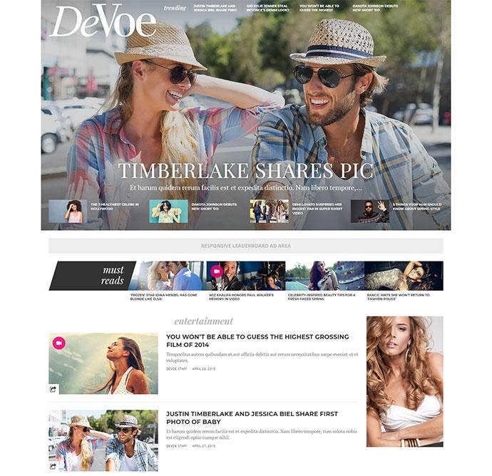 DeVoe - Fashion & Entertainment News Theme